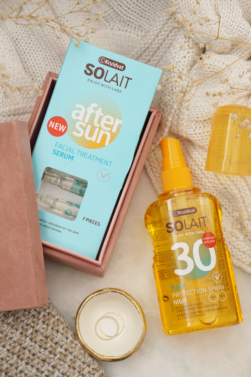 Kruidvat Solait Hair & Head Protection Spray & Aftersun Facial Treatment Ampullen