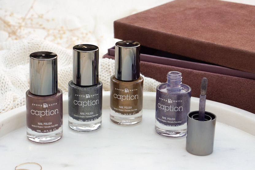 Caption Fall Metallics 2018 swatches