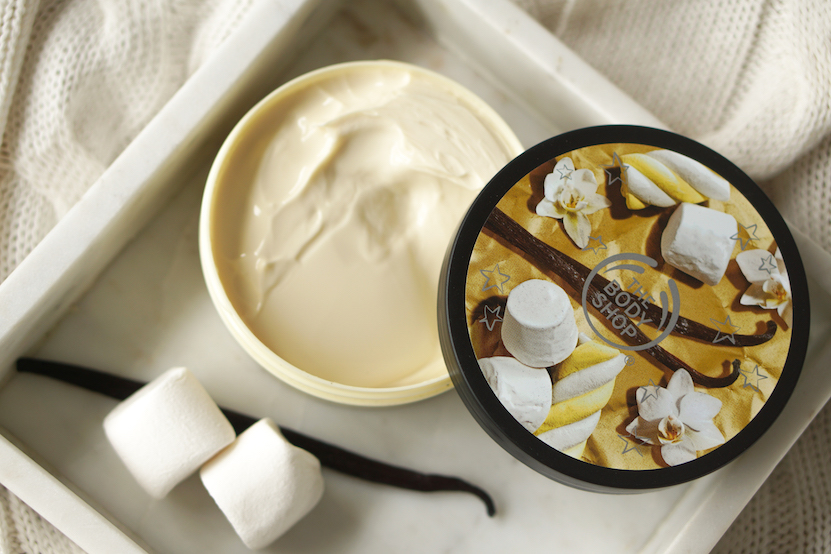 The Body Shop Peppermint Candy Cane, Berry Bon Bon & Vanilla Marshmallow body butter