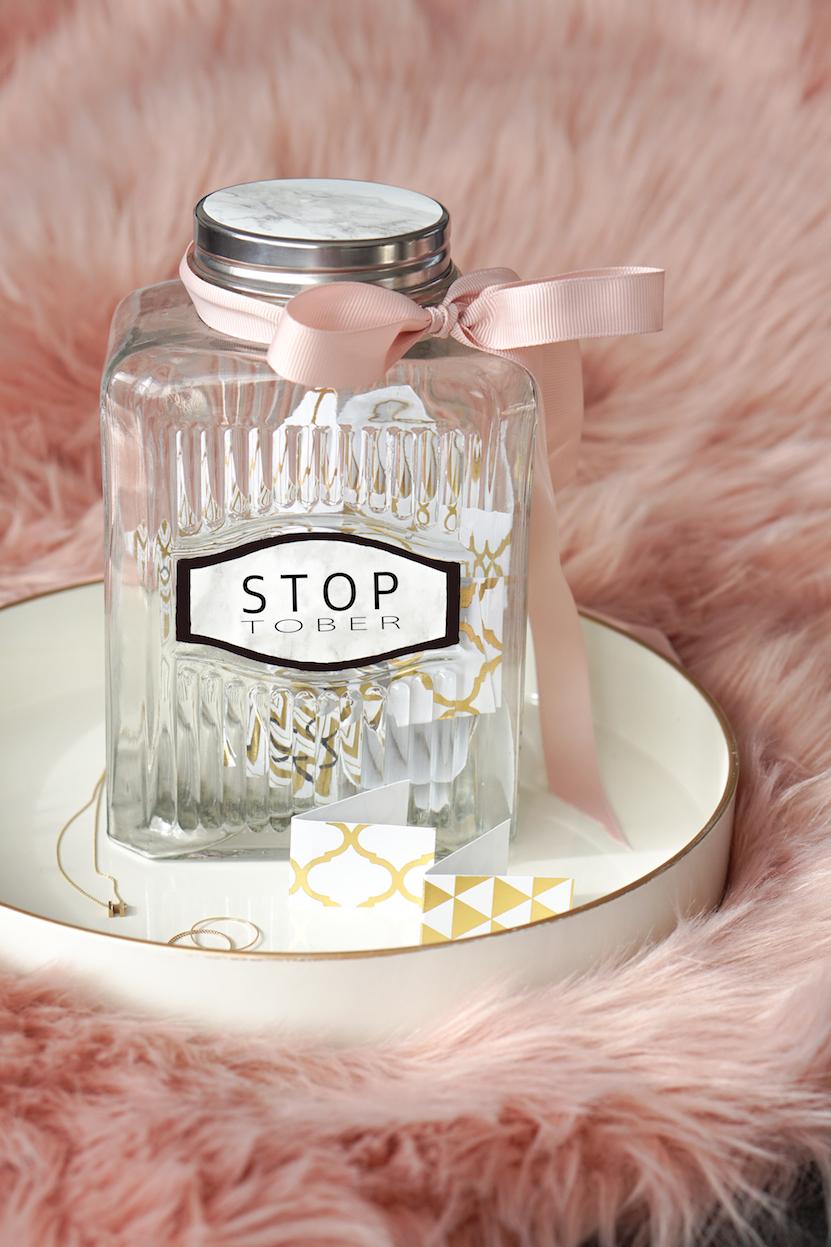 DIY Stoptober jar, stoppen met roken cadeautje en motiveren