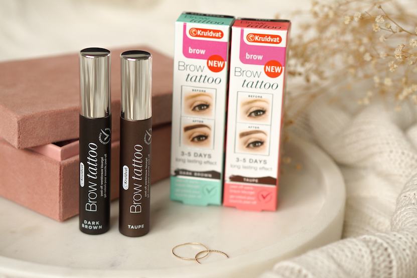 Kruidvat Brow Tattoo review Dark Brown & Taupe