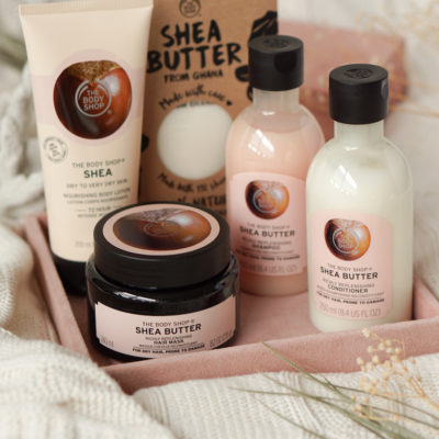 The Body Shop Shea butter, body lotion, shampoo, conditioner & hair mask review