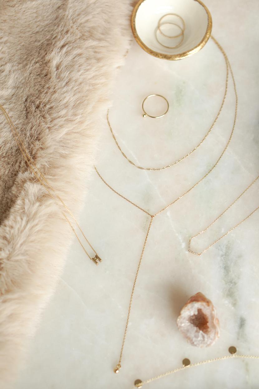 Minimalistische 14k gouden sieraden #2