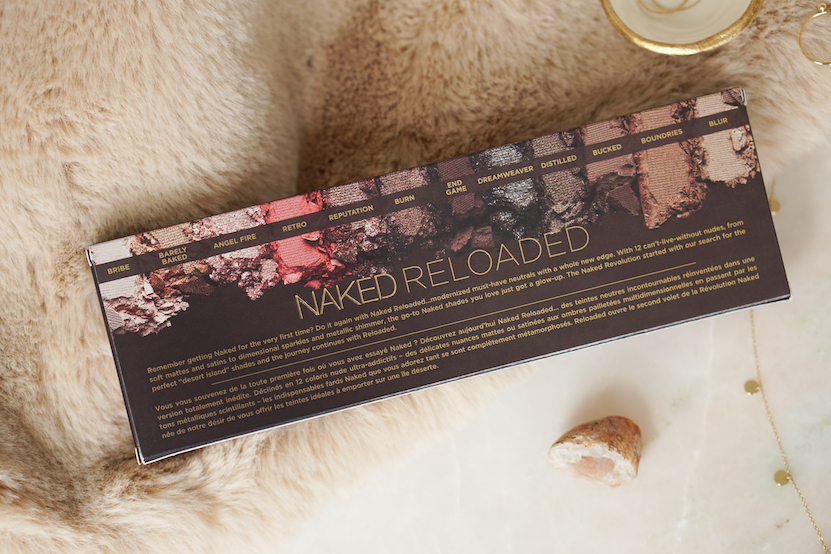 Urban Decay Naked Reloaded Eyeshadow Palette back box