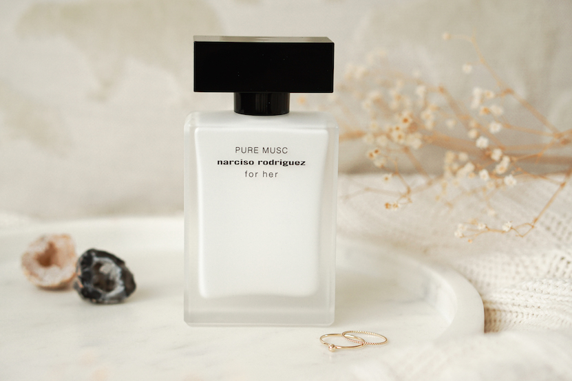 Narciso Rodriguez Pure Musc flatlay