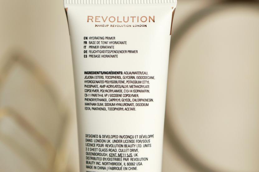 ingredients revolution hydrate primer
