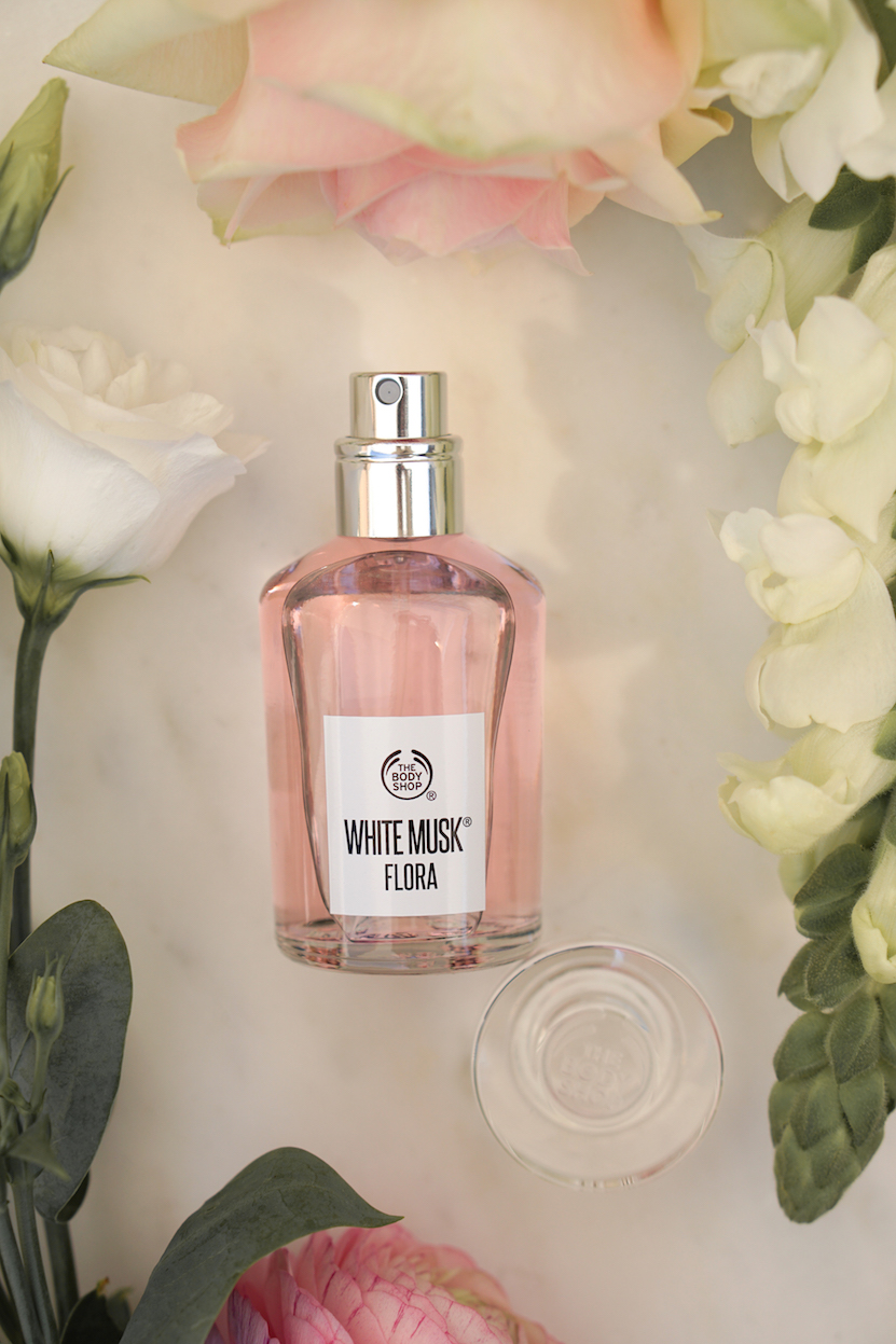 The Body Shop White Musk Flora flatlay