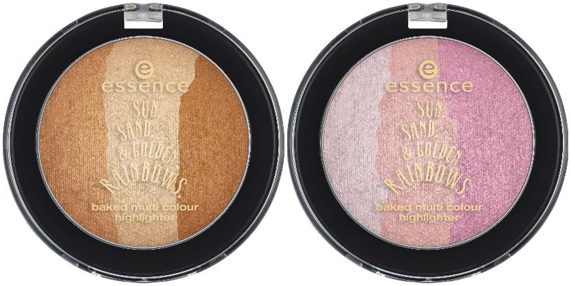 essence trend edition sun. sand. & golden rainbows baked highlighter
