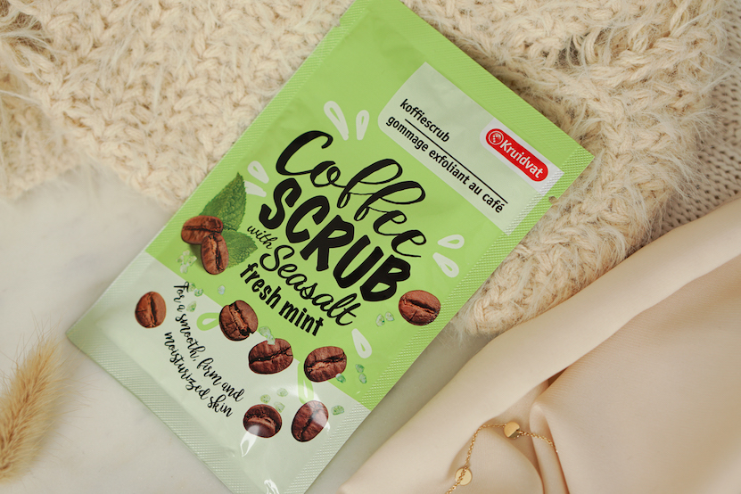 Kruidvat Coffee Scrub with seasalt, fresh mint
