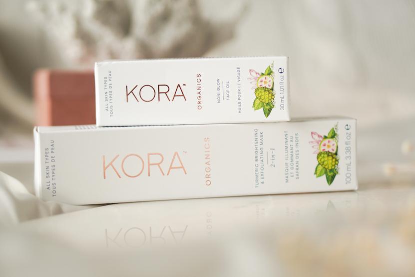 KORA Organics Face Oil + Brightening & Exfoliating Masker