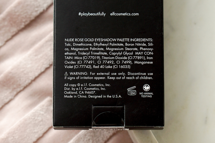 elf e.l.f. eyeshadow palette ingredients