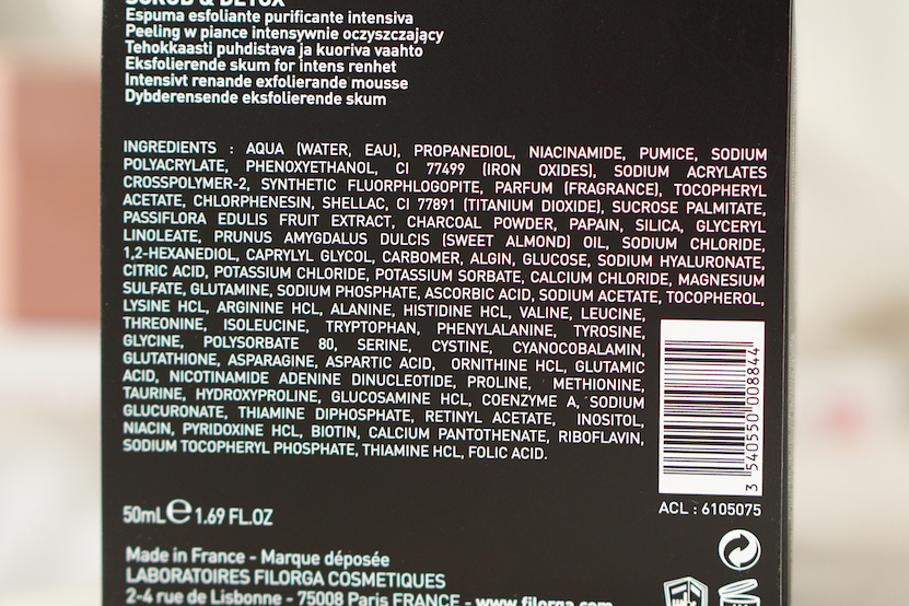 ingredients Filorga Scrub & Detox