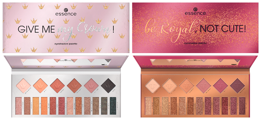 essence be royal, not cute! & give me my crown! eyeshadow palettes