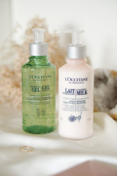 L'Occitane Gel to foam & Cleansing Milk