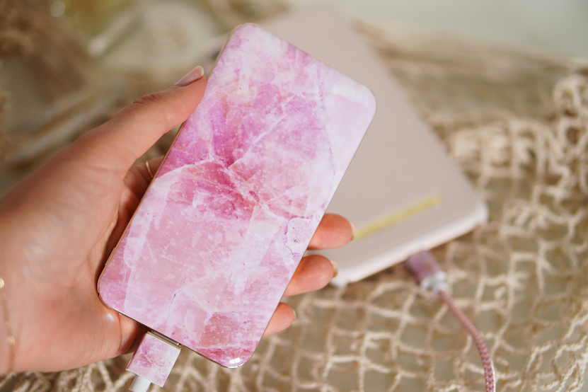 Pilion Pink Marble fashion power bank