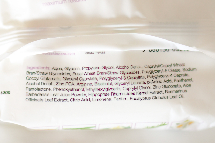 Daily Face Wipes ingredienten