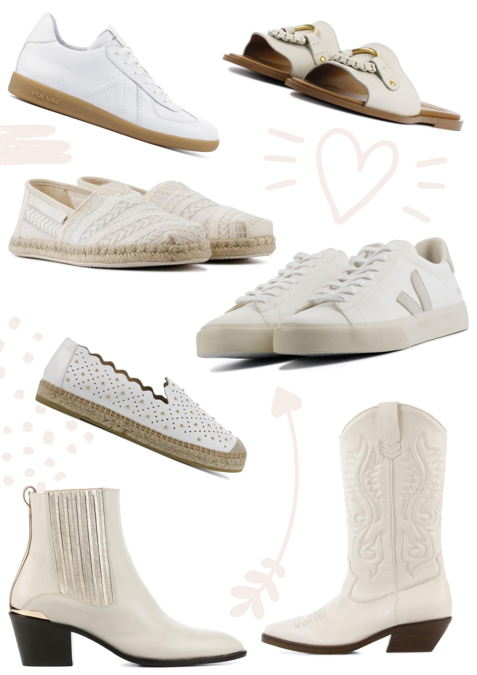 Witte schoenen voor het voorjaar