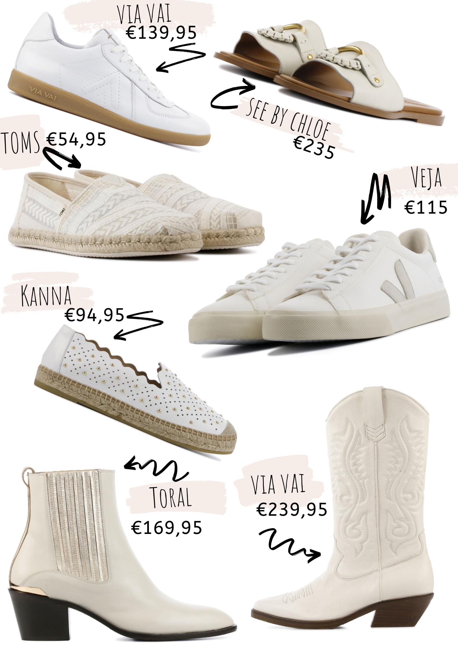 Leukste witte schoenen voor het voorjaar