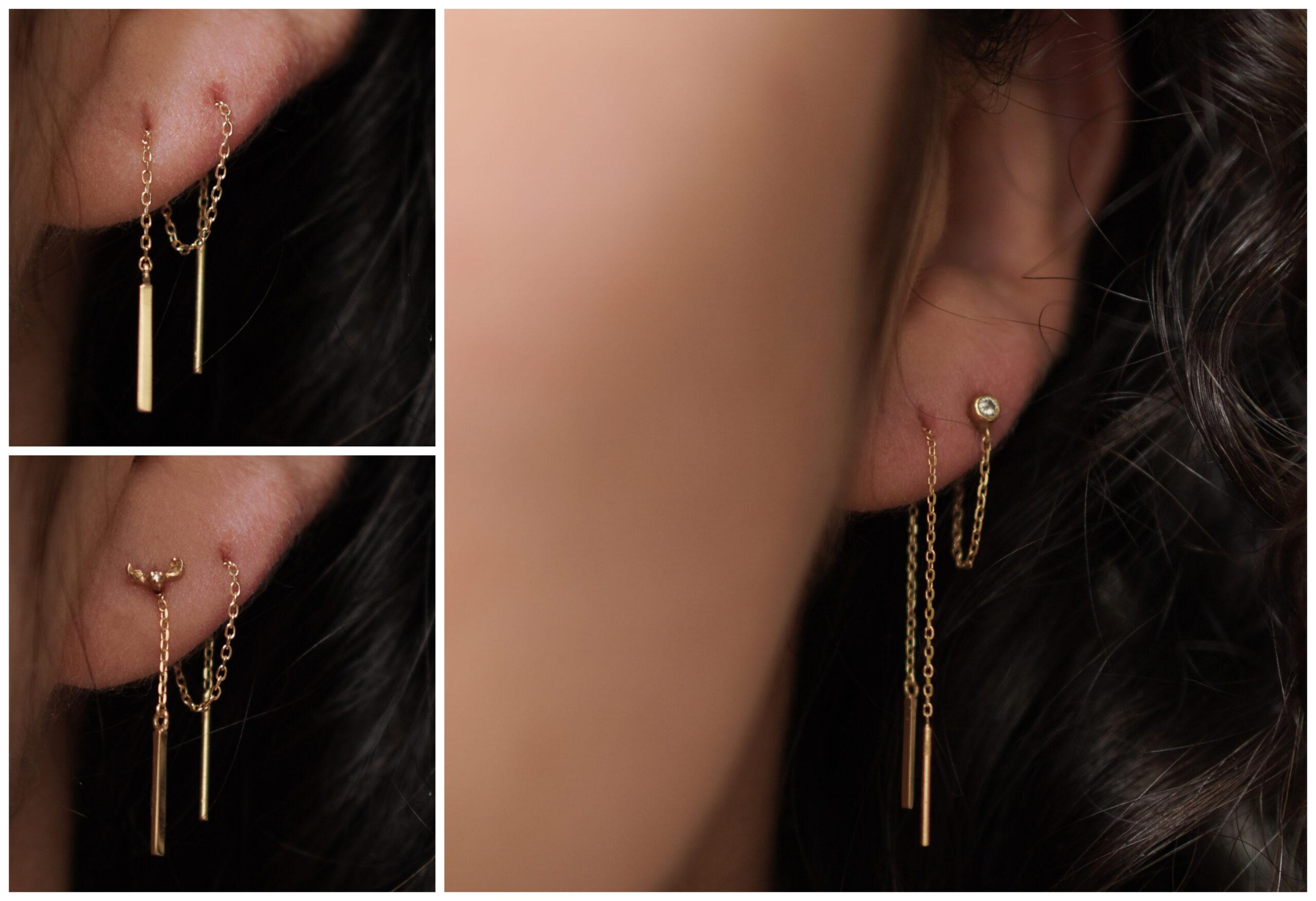 earparty minimalistische gouden sieraden