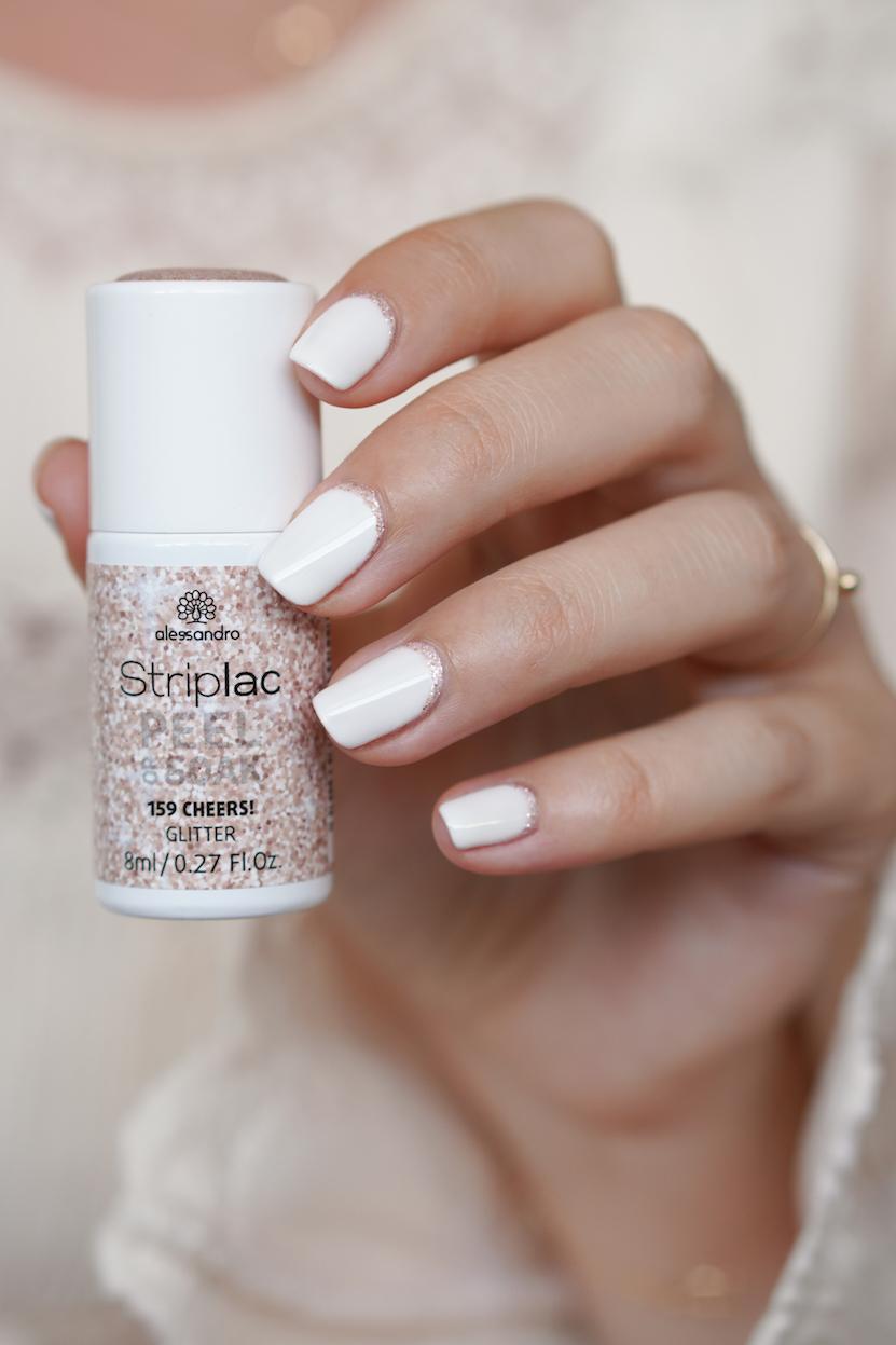 Alessandro Striplac moon manicure NOTD