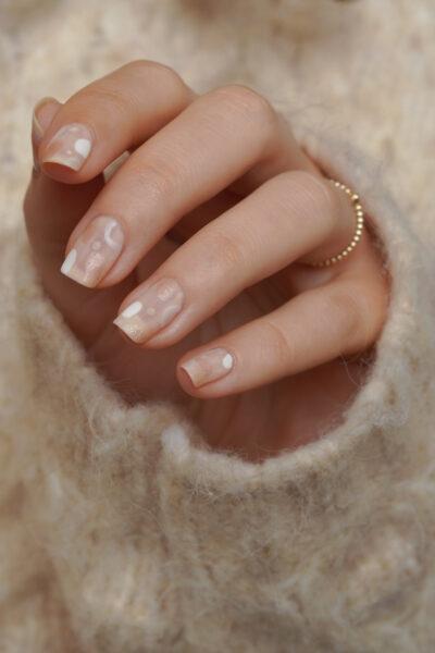 Essie abstract nail art