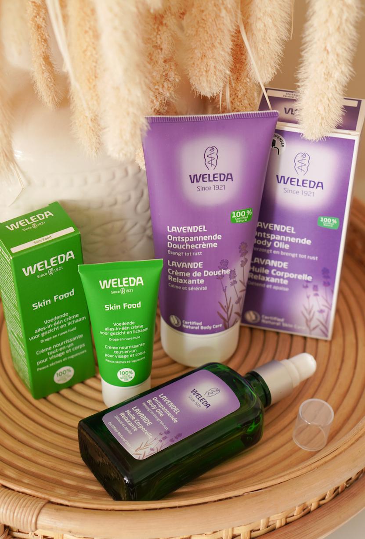 Weleda Skin Food, Lavendel body olie en douchecrème