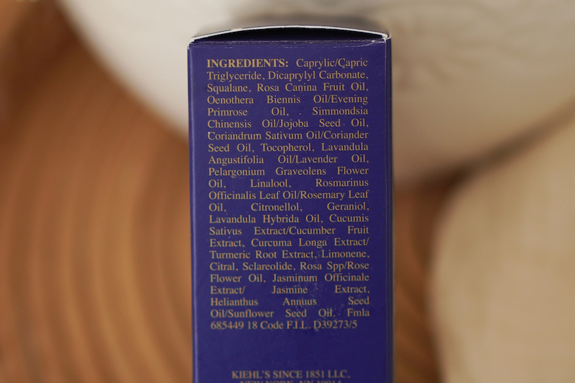 Kiehls Midnight Recovery Concentrate ingredients
