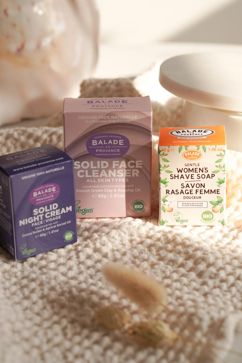 Balade en Provence night cream, face cleanser en shave soap