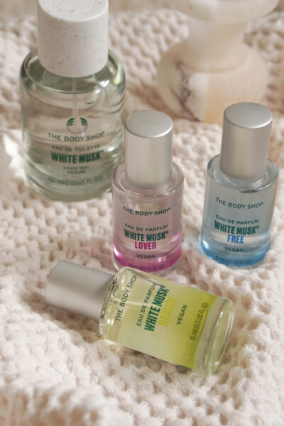 The Body Shop White Musk elements layering toppers